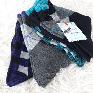 Cat & Jack kids crew socks Size M 9-2/1/2 multicol